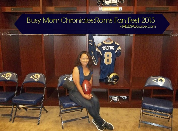 St. Louis Rams Fan Fest 2013 #RamsFanFest #StlRams MELISASource makeba giles #melisasource