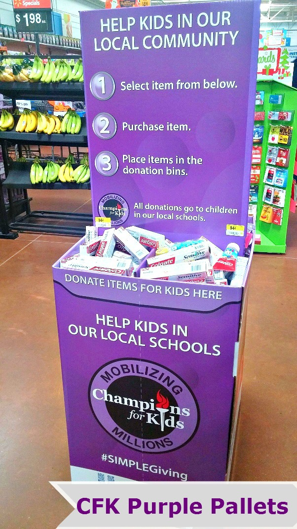 champions-for-kids-simple-giving-donation-box-in-walmart-melisasource #simplegiving #shop #cfk