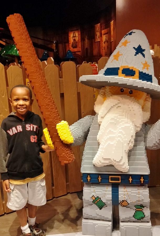 Manny and LEGO Merlin!