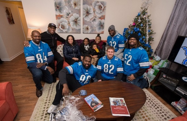 NFL Detroit Lions Surprise Family With Fully Furnished Home