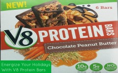 Energizing The Holidays With Campbell's New V8 Protein Bars #LoveV8Protein @Walmart #Ad