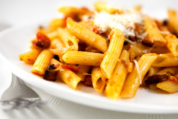 Pasta-with-Pancetta-and-Cherry-Peppers-Recipe-pastarecipe-easypastarecipe valentines day at home #VDayIn