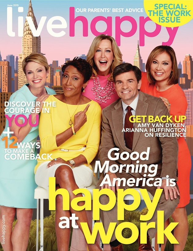 Live Happy magazine good morning america
