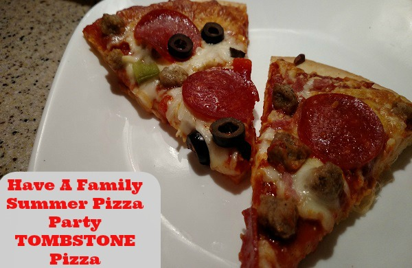 TOMBSTONE pizza giveaway family summer pizza party