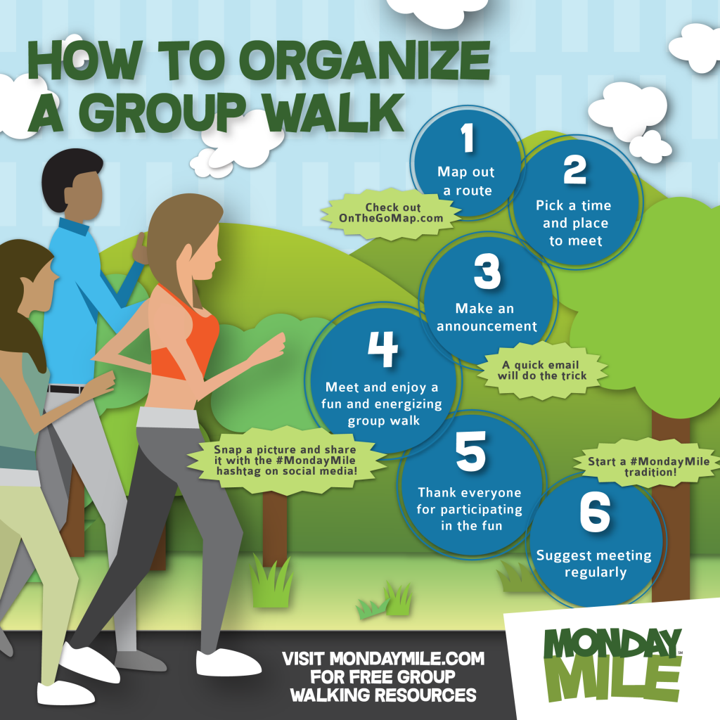Take Physical Activity Beyond National Walking Day with the Monday Mile