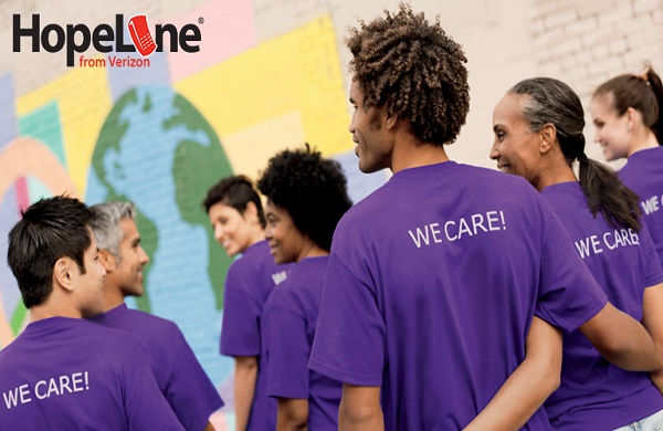 Domestic Violence Awareness with HopeLine from Verizon Wireless