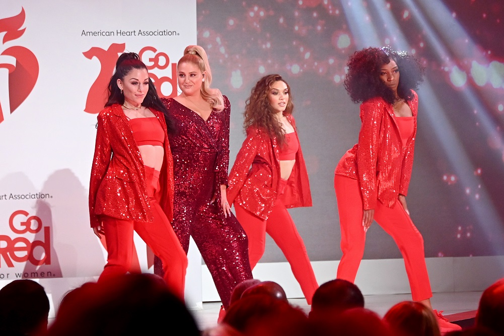 Red-meghan-trainor-Dress-Collection-2020-Go-Red-for-women-american-heart-association-faith-health-and-home