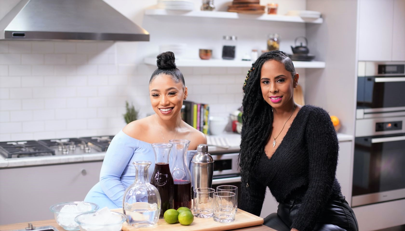 Cleo Tv's Just Eats with Chef JJ Features Growing Up Hip Hop Star Vina Love and DJ Stormy faith health and home li