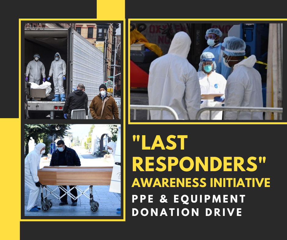 COVID 19 Last Responders PPE Awareness Fundraising Initiative Helps Protect Funeral Industry Workers faith health and home