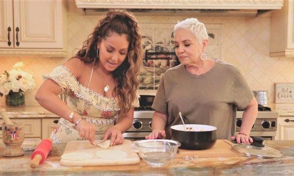 Mom Nilda Joins the Kitchen for Fun Girl Talk and Empanadas on Cleo Tv's All Things Adrienne