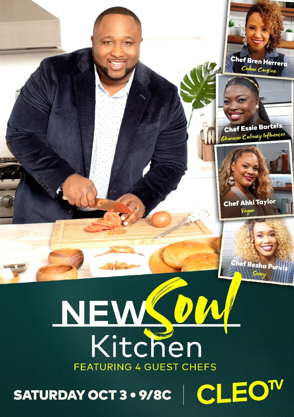 CLEO TV's NEW SOUL KITCHEN chef jernard wells faith health and home